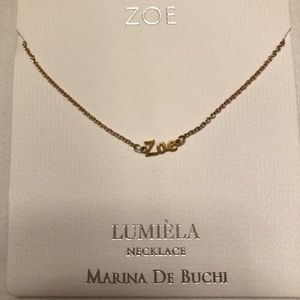 ZOE personalized gold tone necklace by Lumiela